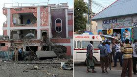 Islamisté zaútočili na somálský hotel v Mogadišu. Zemřelo nejméně 12 lidí