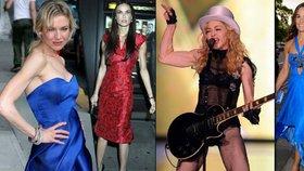 Hollywoodské vychrtliny: Které známé krásky jsou samá kost a šlacha?