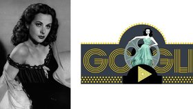 Hvězda stříbrného plátna Hedy Lamarr by oslavila 101. narozeniny, Google jí věnoval Doodle