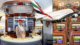 Superletadlo přepraví 615 pasažérů! Emirates přestavili Airbus A380