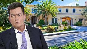 Trest za HIV? Charlie Sheen kvůli vlně vydírání a pornožalob prodává dvě vily!