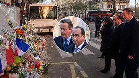 """""""Způsobíme ISIS co největší škody,"""" pronesl Hollande po pietě u Bataclanu"""