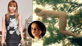 Hvězda z Addamsovy rodiny odhodila oblečení: Nahá Christina Ricci alias Wednesday ve filmu