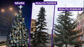 Strakonické vánoční strom-koště má náhradu. Prasklo mu ale lano