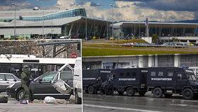 Evakuace terminálu, pyrotechnici v akci. V Sofii našli podezřelou dodávku