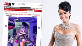 Sexy dračice Sisa Sklovská: Na přehlídce vystrčila holý zadek! Měla kalhotky?