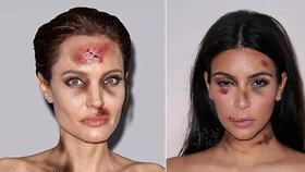 Kardashian a Jolie někdo zmlátil? Hvězdy bojují proti domácímu násilí