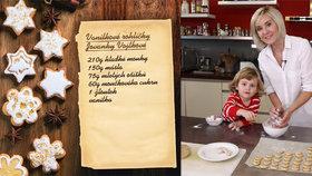CUKROVÍ: Pečeme s hvězdami: Vanilkové rohlíčky Jovanky Vojtkové!