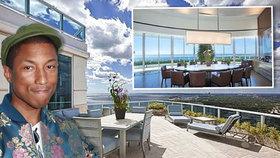Raper Pharrell Williams prodává přepychové bydlení: Střešní byt v Miami za 10,9 milionu dolarů