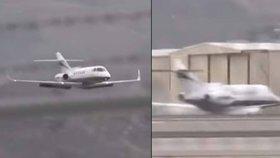 Výborná práce pilota: Letadlo přistálo bez podvozku přímo na spodní část trupu