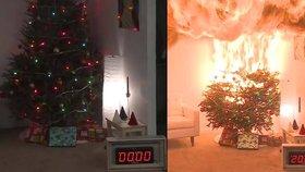 Kvůli Vánocům vyjížděli hasiči v Praze pětkrát, neshořel jediný stromeček. Jak se vánočnímu požáru vyhnout?