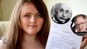 Zrodil se génius! 13letá Romka má větší IQ než Einstein a Stephen Hawking