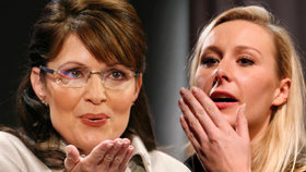 """Sarah Palin se """"zamilovala"""" do Le Pen: Je prý jako Johanka z Arku"""