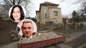 Rekonstrukce milionové vily Zemanova kancléře: Tady je Mynářovo, všechno musí pryč