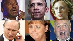 """Největší perly světových politiků. Jak se """"sekli"""" Obama, Merkelová a Putin?"""