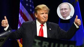 """Putin chválil Trumpa. """"Je to obrovská čest,"""" rozplýval se prezidentský kandidát"""