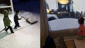 """""""Mami, to je sníh?"""" Uprchlíci vyměnili syrské peklo za polární kruh"""