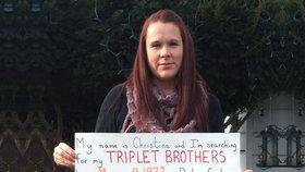 Hledám své brášky-trojčata, prosí žena na Facebooku. Její rodiče se jich museli vzdát
