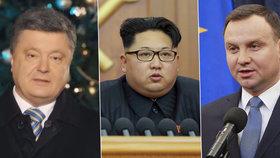 Novoroční projevy: Diktátor Kim šil do Soulu, Porošenko do »agresivního« Ruska