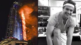 Dubajský hrdina: Z hořícího pekla vynesl na zádech invalidní maminku!