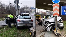 Zběsilá honička v Praze: Zfetovaný řidič ujížděl policii, málem zabil chodce