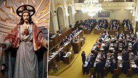 Sněmovna otevírá vlastní kapli. Poslancům nestačí nálevny, žízní i po duchovnu