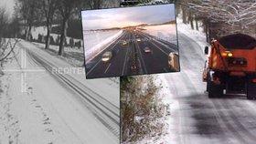 Řidiči, pozor: Na silnicích leží sníh, tvoří se ledovka. A bude hodně mrznout