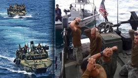 Američané na kolenou. Pronikli do výsostných vod a skončili v zajetí