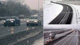 Náledí a sníh komplikují ranní dopravu. Kamiony nemohly do Polska