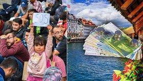 Švýcaři předstihli Dány v obírání uprchlíků. Peníze jim berou hned dvakrát
