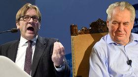 Zeman se mýlí, kontruje Babišův bruselský šéf. Belgie muslimy integrovala