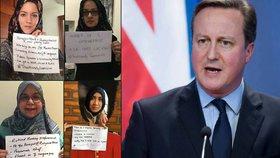 """Muslimky to """"nandaly"""" Cameronovi: Nejsme žádné submisivní puťky"""