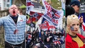 Střet neonacistů a antifašistů v Anglii: Demonstrace se proměnila v krvavá jatka