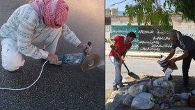 Odklízení trosek, odpadky, čištění ulic: Čím se živí Syřané, kteří neuprchli?