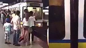 Muži přiskříplo metro penis, kvičel jako podsvinče