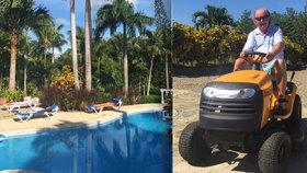 Utajovaná vila hudebního bosse Janečka v Karibiku je luxusní. Vlezli jsme mu až do kuchyně!