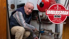 Seniorovi měřili vodoměry, firma při tom ucpala plynový kotel