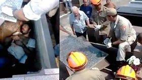 Pohřben zaživa! V brazilské hrobce našli živého muže