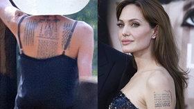 Angelina Jolie odhalila záda: Má tři nová tetování! Co znamenají?