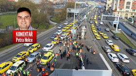Komentář: Taxikáři nemuseli Prahu blokovat, brzy budou jezdit i za 15 korun