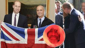 Princ William oplakal přítele: Na pohřbu utěšoval rodinu zesnulého polárníka