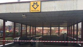 Vstup od autobusů do metra na Palmovce se uzavřel. Práce potrvají pět měsíců