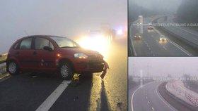 Pozor při cestě do práce. Čechy pokrylo náledí, venku je i mlha