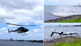 VIDEO děsivé nehody: Vrtulník plný lidí se zřítil do vody!