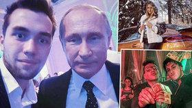 Zbohatlická mládež dobyla Instagram: Luxusní auta, štosy peněz a selfíčka s Putinem!