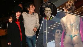 »Kanec« Ronnie Wood z Rolling Stones (68): Těhotnou ženu poslal domů a líbal sličnou Brazilku v tangách!