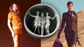 Tajemství sexy letušek: Jak se změnily jejich uniformy za poslední století?