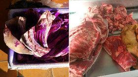 Prodával v SAPĚ maso pochybného původu: U něj doma ho našli policisté 4 tuny