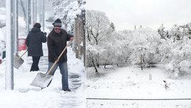 Namrzlé chodníky a sněhové závěje? Do ulic vyrážejí uklízet nezaměstnaní