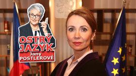 Ostrý jazyk Jany Postlerové: Soudkyně Barbara je kočkopes! A proč jsou dvě?